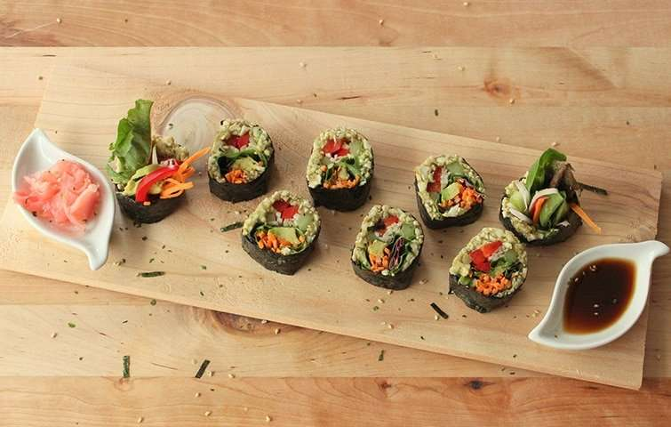 sushi vegan!
